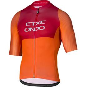 Etxeondo On Aero Fietsshirt korte mouwen Heren oranje/rood